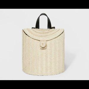 womens straw backpack